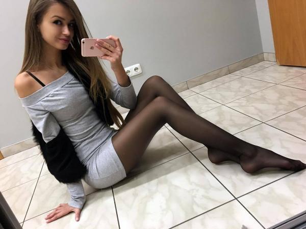 Selfie na podłodze