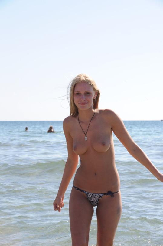 Amatorka nad morzem