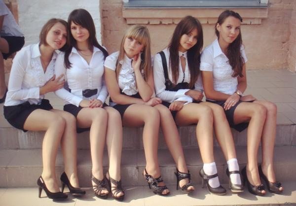 Koleżanki z rosyjskiej szkoły